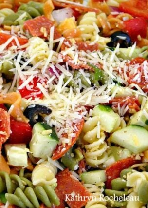 Pasta Party Salad! It's certainly popular at party time!