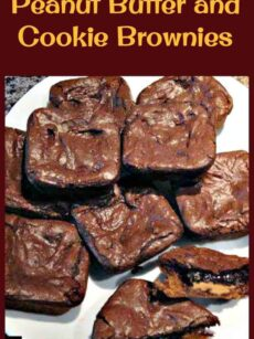Peanut Butter and Cookie Brownies. Soft, chewy and yummy brownies. Easy recipe and always a hit!