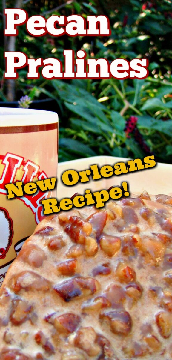 Famous New Orleans Pecan Pralines. A great Southern, New Orleans institution! Delicious buttery brown sugar candy type cookie in one, made of pecans, butter, sugar, and milk. Great for Christmas time too!