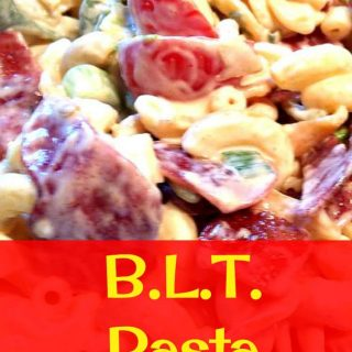 BLT Salad... Yep, Bacon, Lettuce and Tomato mixed with some lovely pasta. Always a hit!
