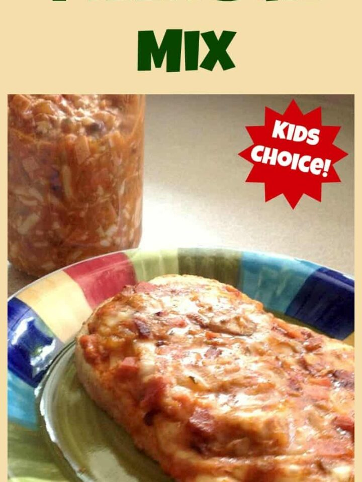 PIZZA BUN MIX Easy to make great snack, side, main, whatever you like! Great for after school hungry tummies too!