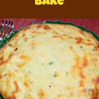 Potato Cheddar Bake.You could have this as a side dish, make up a jug of gravy and enjoy!