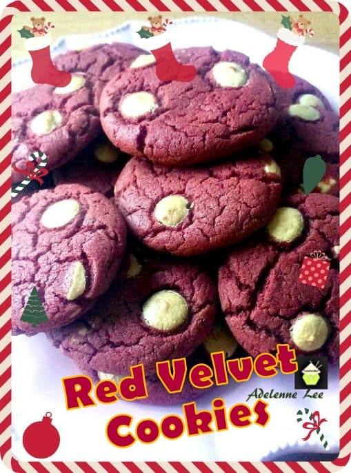 Red Velvet Cookies with white chocolate chips, easy recipe and quick to make, and of course delicious too!