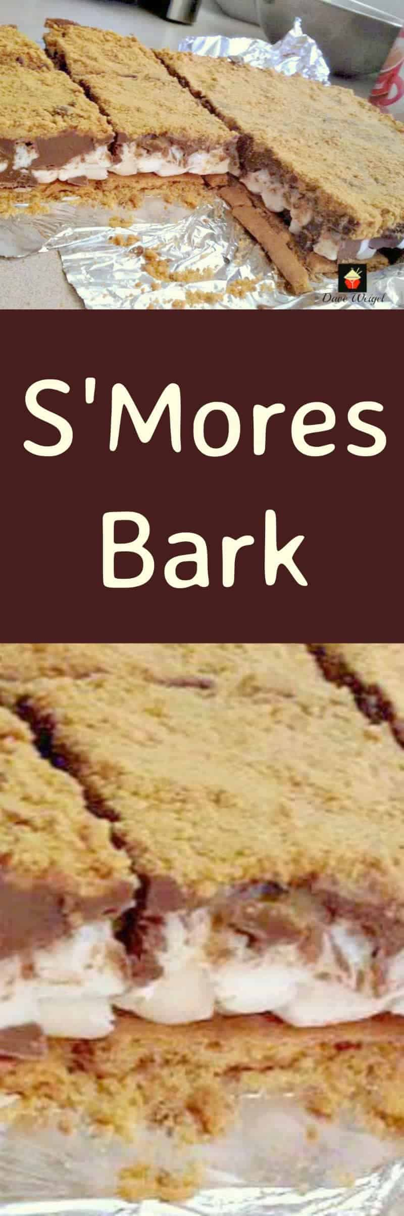 Smore's Bark!  A very easy recipe, and great for parties and gatherings. Perfect if you need to make ahead.
