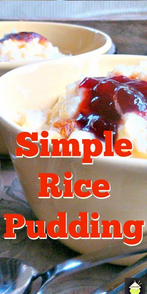 Easy Rice Pudding - An easy recipe and oh so good! Delicious served warm from the oven with a sprinkle of nutmeg or a blob of jam too!