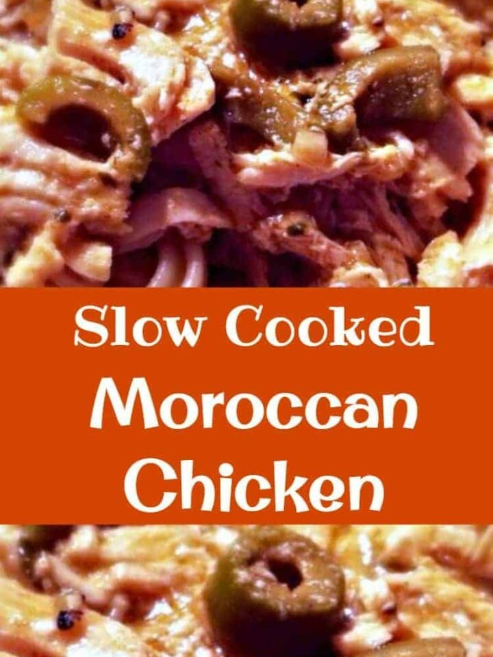 Slow Cooked Moroccan Chicken The flavours in this are amazing and just close your eyes and imagine the aromas coming from this when it's cooking!