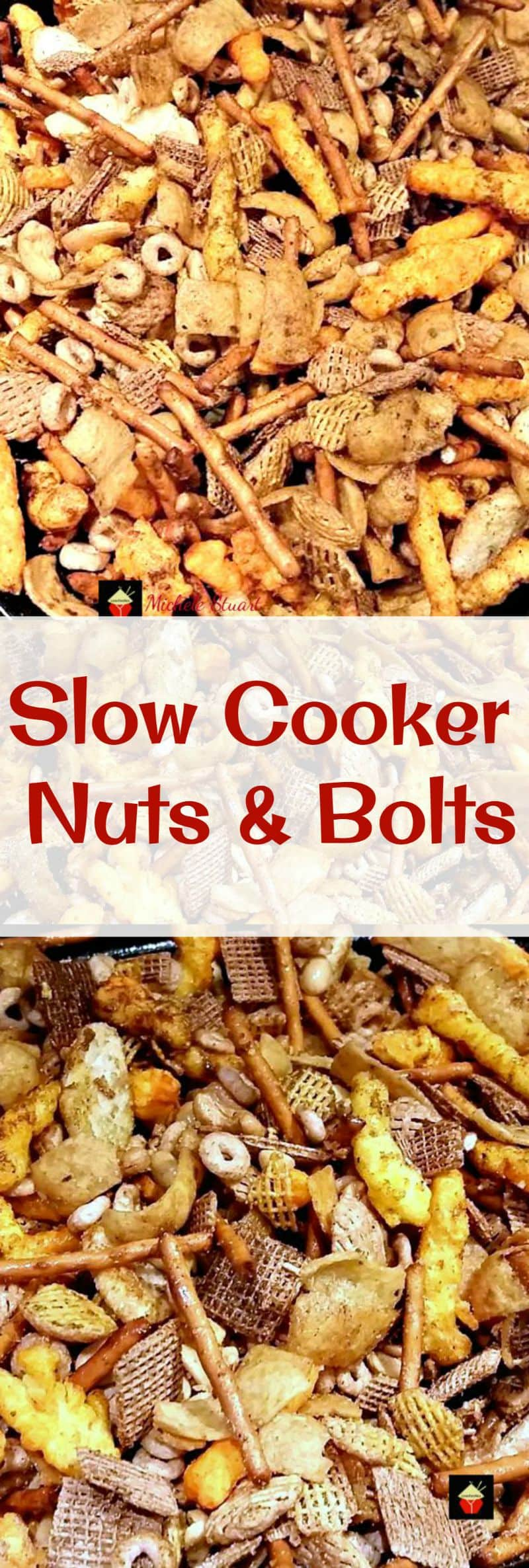Slow Cooker Nuts & Bolts. A very easy recipe and so flexible, you can adjust according to your taste, and add different seasonings and ingredients. Lots of suggestions in the recipe for you to enjoy!