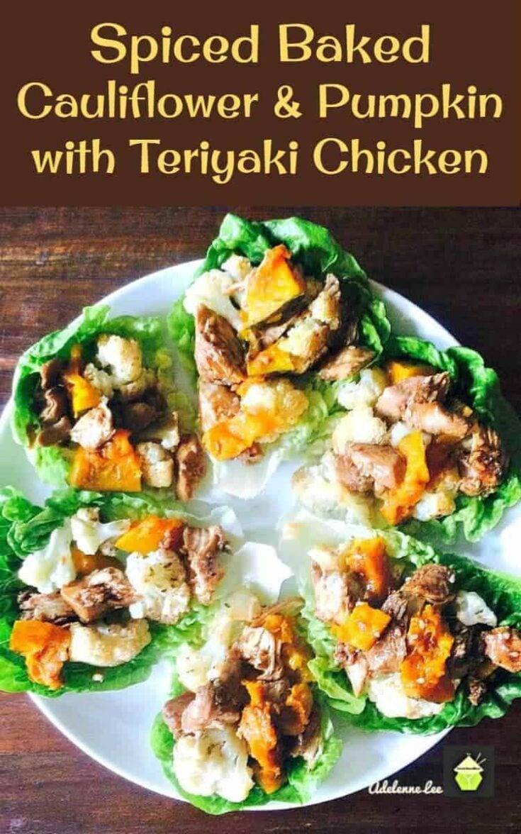 Spiced Baked Cauliflower and Pumpkin with Teriyaki Chicken6