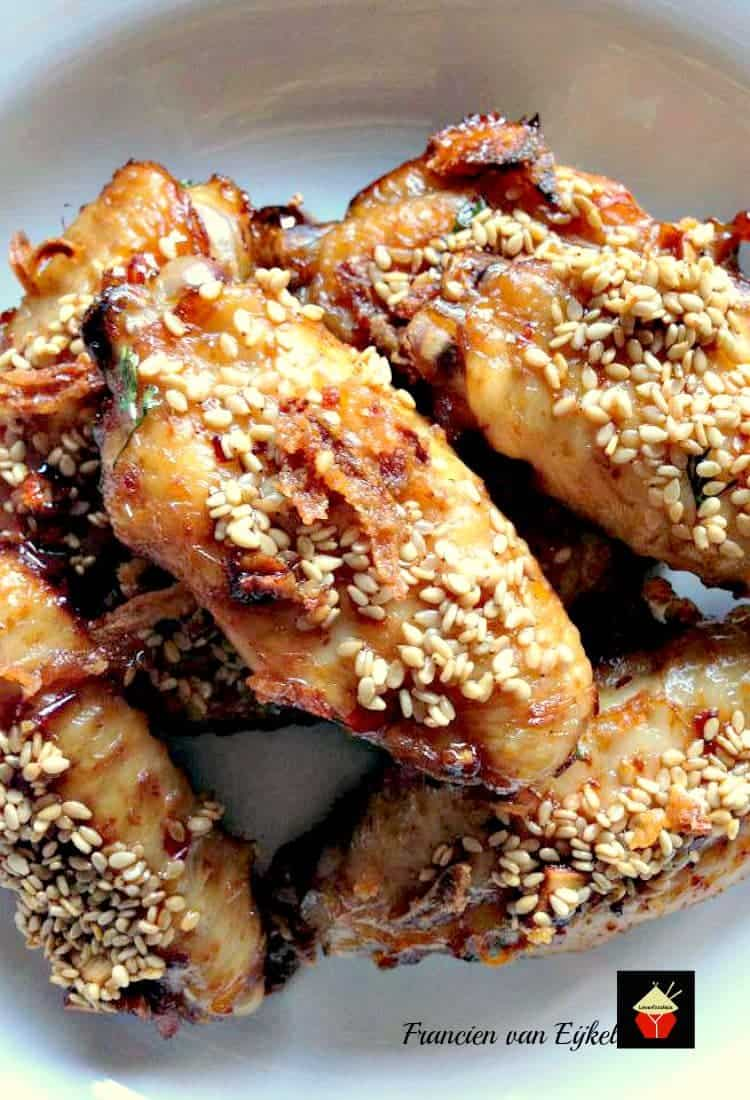 If you like hot and spicy, then these will please you! Spicy Brown Sugared Chicken Wings. Really tasty!