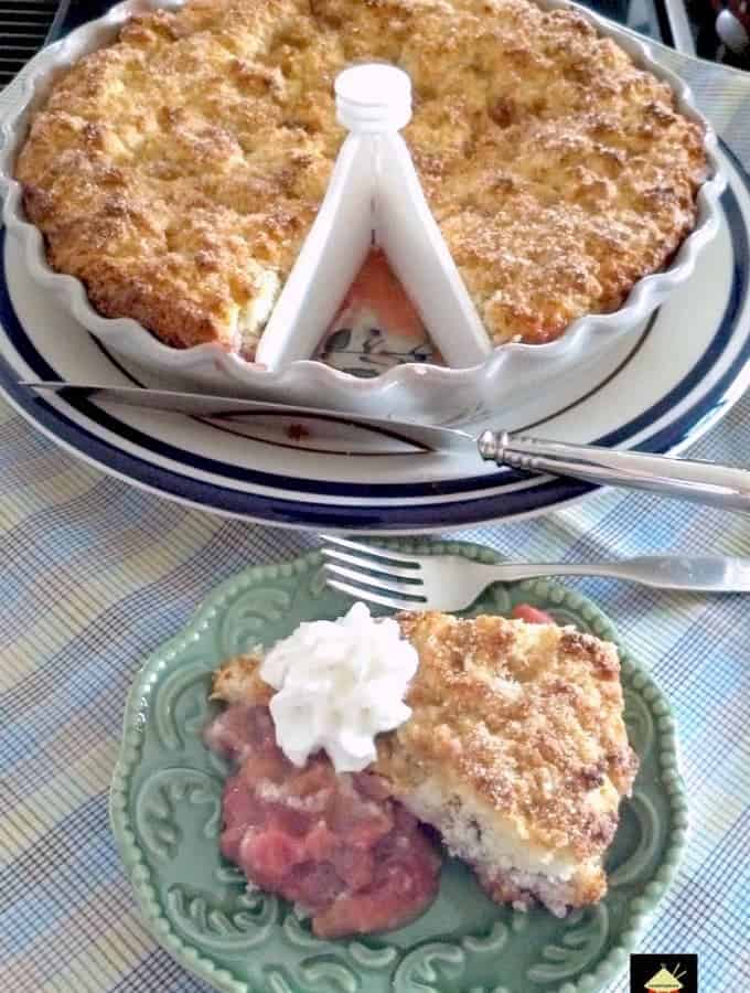 Strawberry Rhubarb Cobbler. This is a delicious dessert, and flexible with the fillings so you could swap the fruits to your choice! Great served warm with some whipped cream or ice cream and also freezer friendly. Yummy!
