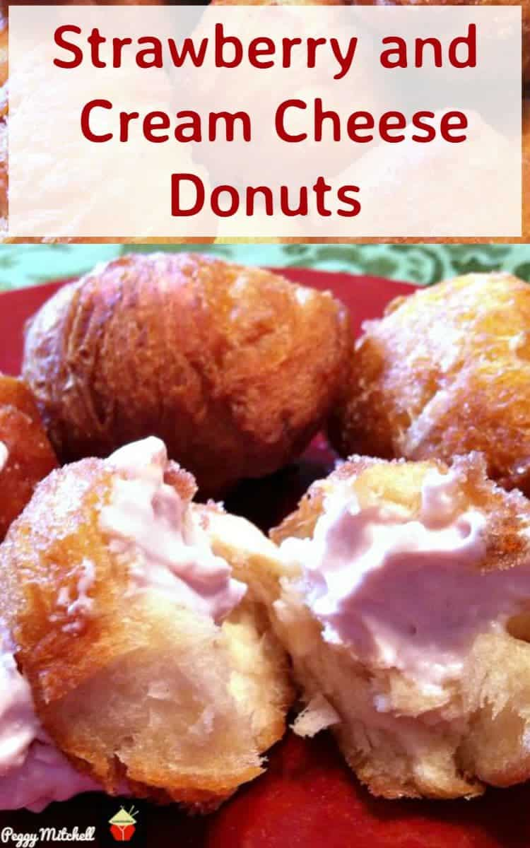 Strawberry and Cream Cheese Donuts are so yummy! Always a hit at parties so be sure to make plenty!