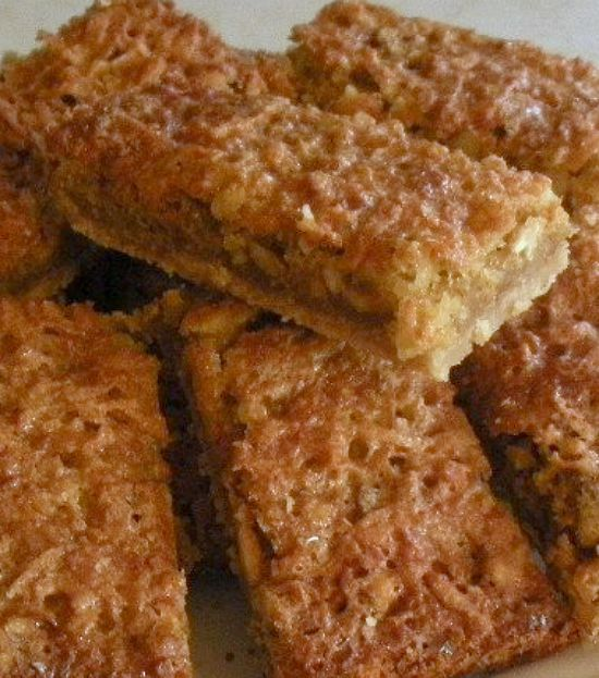 Toffee Nut Bars. Easy to make and of course DELICIOUS! This is a real age - old family favorite with delicious coconut and black walnuts, what a great combo!