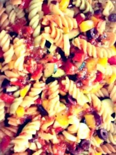 Tri Colour Summer Salad...Great dressing and perfect for BBQ's and those lovely Summer days!