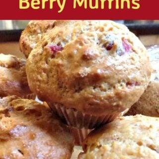Berry Muffins - Quick & Easy and use your favorite berries, fresh or frozen!