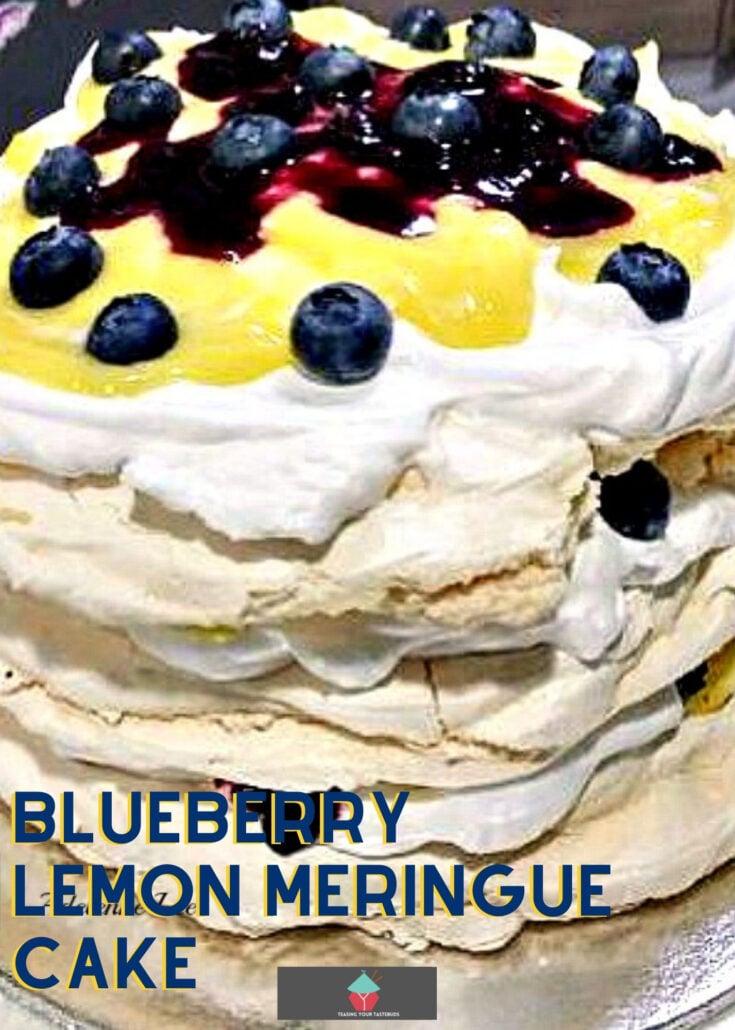 Blueberry Lemon Meringue CakeH