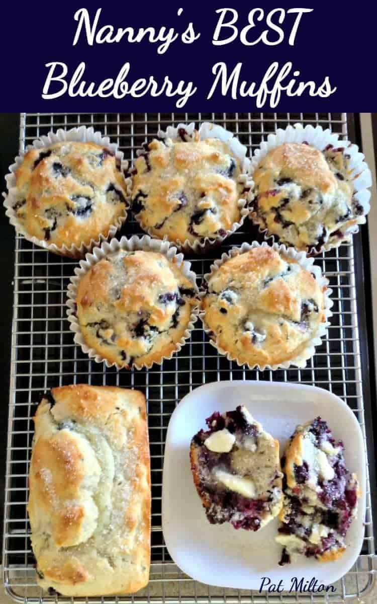 Blueberry Muffins. An Easy recipe and great served warm with a blob of butter and a lovely cup of tea!