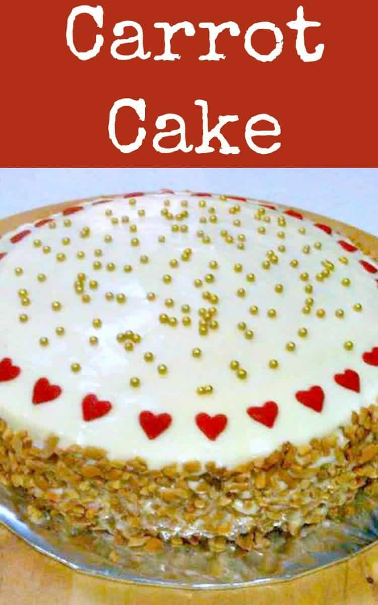 Easy Carrot Cake,  has got to be one of the easiest recipes ever! It's also got a great frosting on the top.