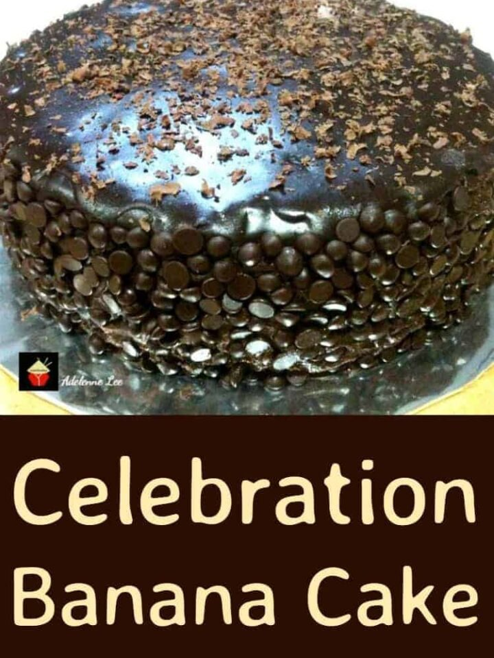 Celebration Banana Cake with Chocolate Mousse and Ganache - A real chocolate lover's dream!