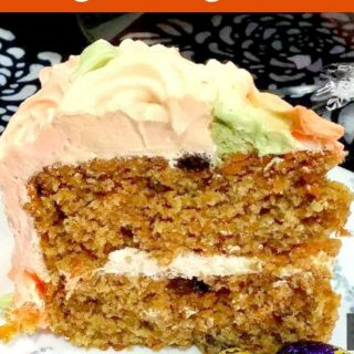 Celebration Carrot Cake. A beautiful moist and soft carrot cake with a whipped cream frosting. The aroma when this is baking is amazing!