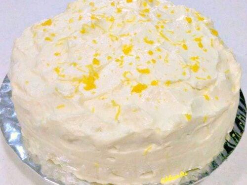 Superb Celebration Lemon Cake Lovefoodies Personalised Birthday Cards Beptaeletsinfo