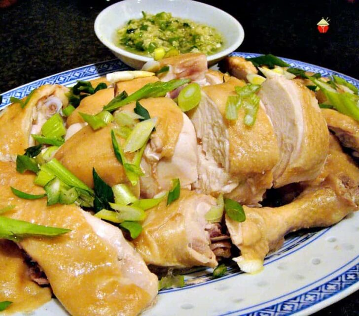 Chinese Drunken Soy Chicken is a lovely easy recipe. The chicken is cooked in a lovely broth, keeping it juicy and full of flavor. Serve as part of a delicious Chinese dinner!