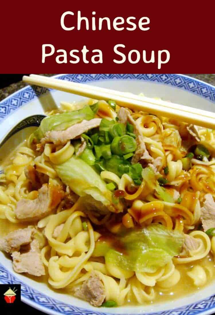 Easy Chinese Pasta Soup is a lovely fresh tasting recipe, budget friendly and quick to make. I've also added several suggestions for ingredients to suit everyone! The flavors are out of this world! | Lovefoodies.com