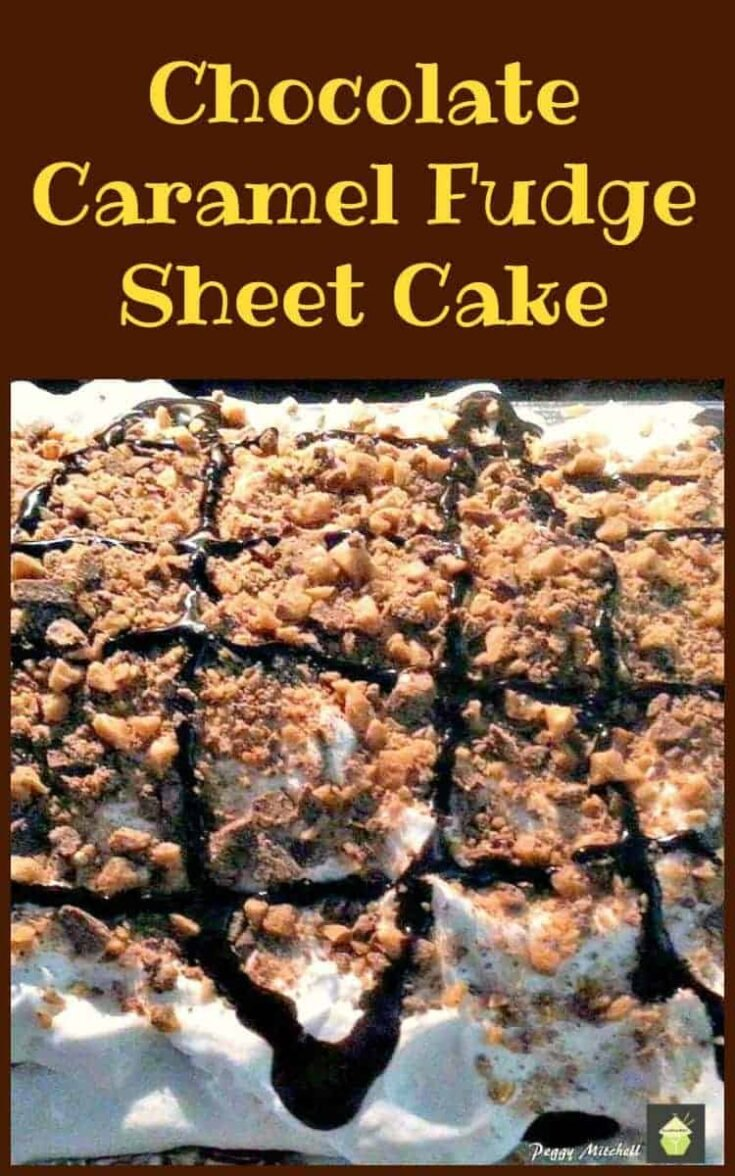 Chocolate Caramel Fudge Sheet Cake