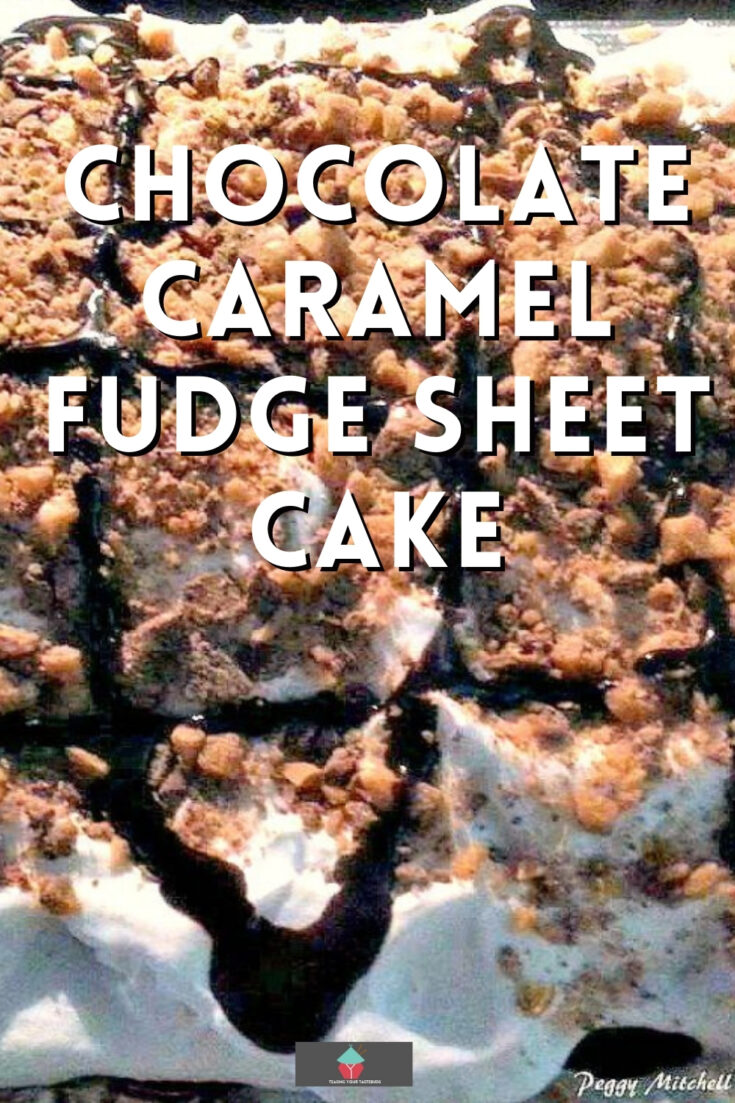 Chocolate Caramel Fudge Sheet CakeP1