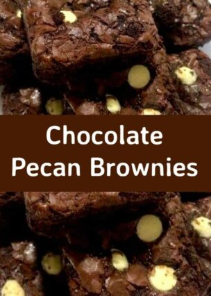 Chocolate Pecan Brownies. These are just AWESOME! Easy brownie recipe loaded with chocolate and pecans, these are a perfect treat and always a hit with crowds so be sure to make plenty! Fuss free and quick to make.