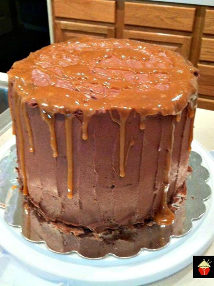 Chocolate Salted Caramel Cake. This is a lovely cake, requires a little work, but well worth it when you taste the results!