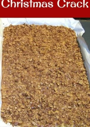 Christmas Crack. If you've never tried this you're missing out! Really easy recipe and always a hit at home! | Lovefoodies.com