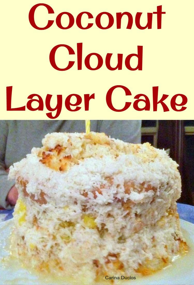 Coconut Cloud Layer Cake. Layers of cake, meringue,macaroons, lemon ...