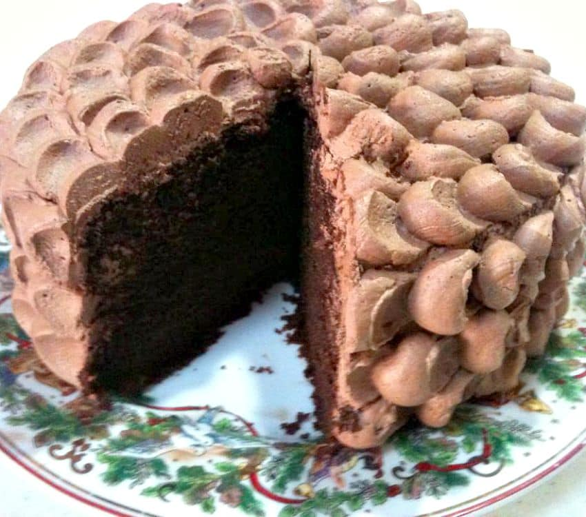Coffee Mocha Cake with a chocolate whipped cream frosting is a lovely cake, with easy to follow instructions. Perfect for a party or celebration!