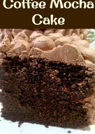 Coffee Mocha Cake. This is a wicked cake!!! Easy to follow recipe and here's a slice for you all to try!