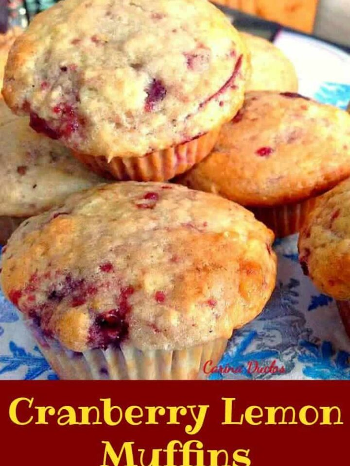 Cranberry Lemon Muffins...... Incredibly easy recipe and of course very tasty!