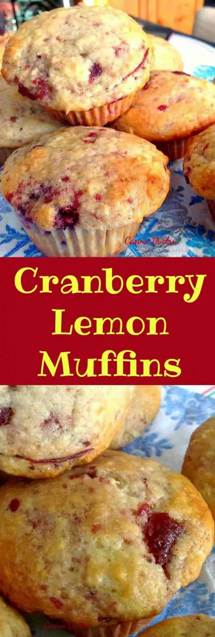 Cranberry Lemon Muffins. Incredibly easy recipe and of course very tasty!