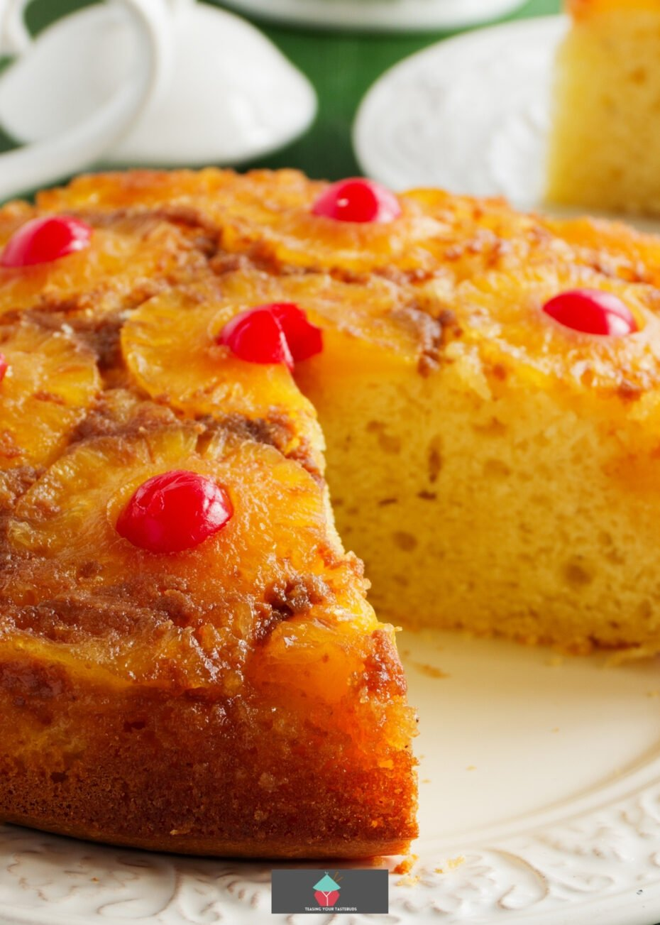 Crock Pot Pecan Pineapple Upside Down Cake, an easy slow cooker recipe for a classic Pineapple Upside Down Cake, for a soft cake. A popular family dessert!