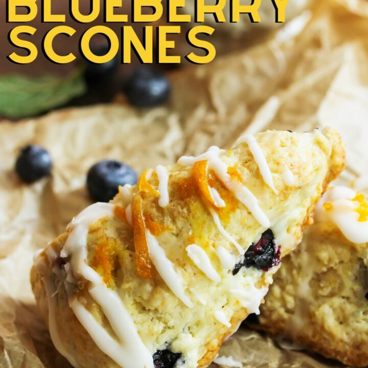 Easy Blueberry Scones recipe, uses basic ingredients.Soft and fluffy inside. Have as a snack or part of a breakfast or brunch with some butter and jam too!