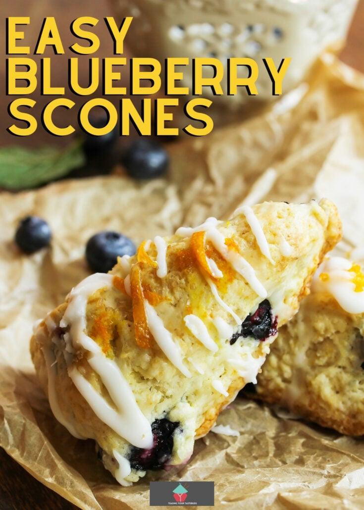 Easy Blueberry SconesH