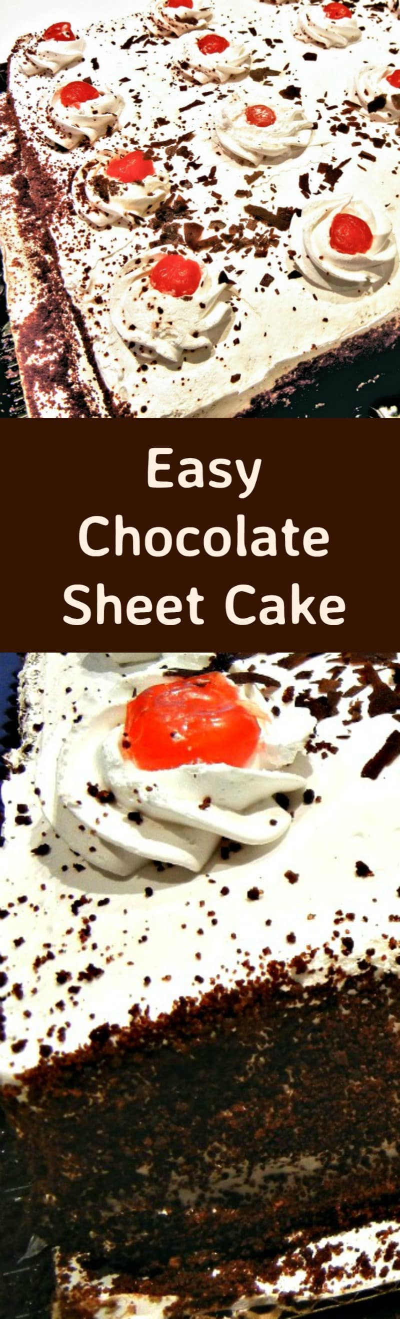Easy Chocolate Sheet Cake Great for parties, and always a hit! | Lovefoodies.com