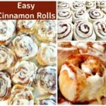 Easy Cinnamon Rolls. A deliciously sweet, soft sticky bun with a great vanilla glaze. These are so delicious warm from the oven with some maple syrup poured over too!
