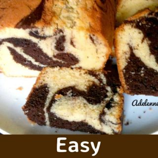 Easy Marble Cake with a fabulous chocolate frosting. Perfect for a party or simply to have on your own with a cup of tea!