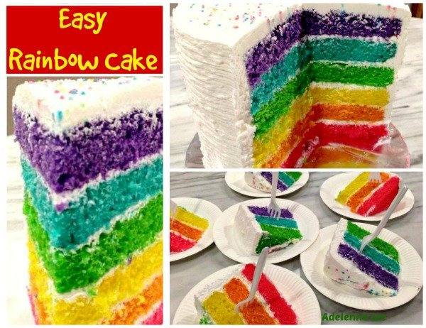 Rainbow Birthday Cake Come And See The Easy To Follow Recipe To Make This Wonderful