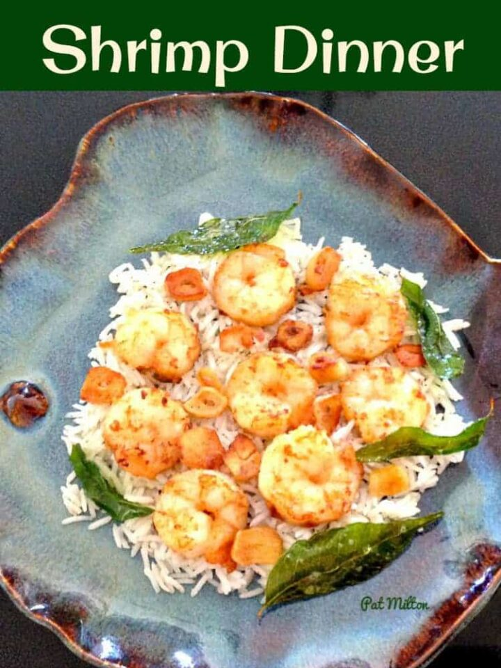 Garlic Butter Shrimp Dinner. This is a super fast and easy recipe which you can serve as a starter or main meal. Delicious on a bed of rice or pasta, or some warm bread fresh from the oven! | Lovefoodies.com