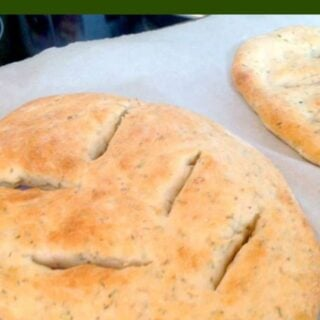 Garlic & Herb Flat Bread. A wonderful easy recipe which is versatile enough to allow you to choose the herbs and flavors you enjoy the most!