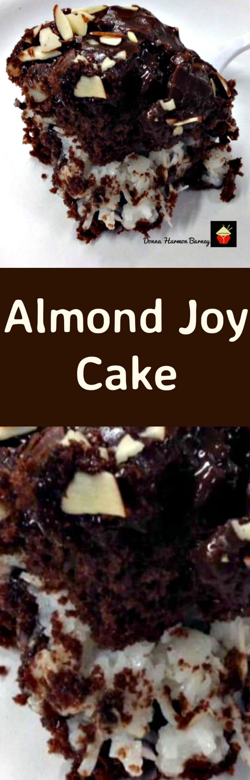 Gold Miner's Almond Joy Cake. A super moist, delicious and rich cake loved by all! Loaded with chocolate, marshmallows,coconut, almonds... this is a pretty amazing cake and perfect for parties too! | Lovefoodies.com