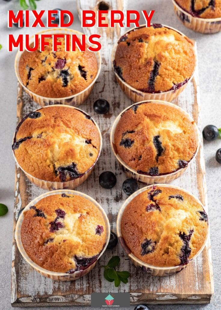 Mixed Berry MuffinsH