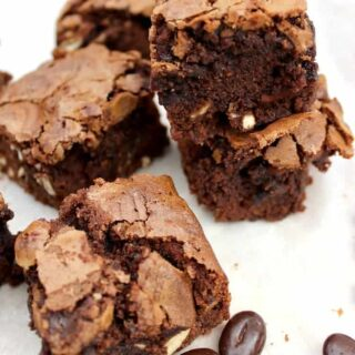 Mocha and Spritz Cookie Brownies