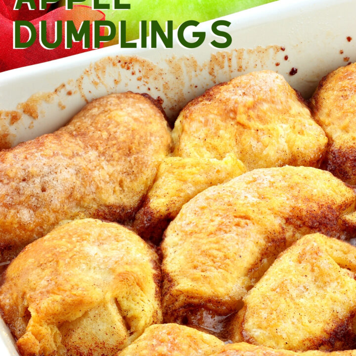Mom's Apple Dumplings. Mom's apple dumplings recipe, old fashioned recipe using apples in a sweet pie crust then baked in a delicious cinnamon syrup. A great comforting dessert