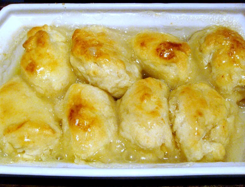 Mom's Apple Dumplings. This is a great family recipe with all the flavors of Fall! A lovely warming dessert and always a hit with the family! | Lovefoodies.com